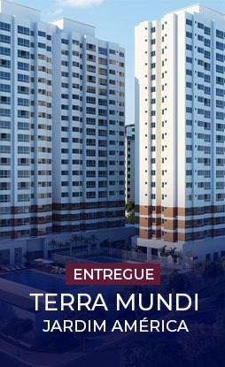 Terra Mundi Jardim América em Goiânia - Apartamentos 2 e 3 Quartos