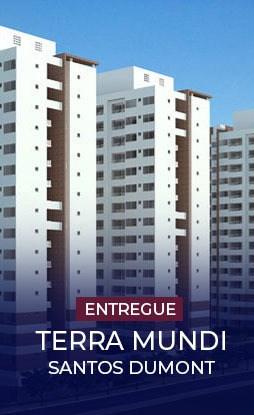 Terra Mundi Santos Dumont em Goiânia - Apartamentos 2 e 3 Quartos
