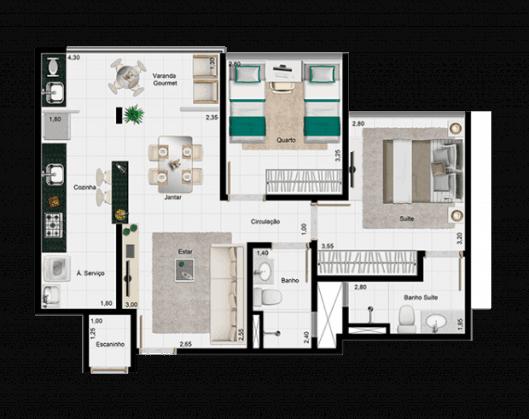 Apartamento Terra Mundi Goiânia